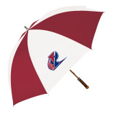 62 Inch Cardinal/White Umbrella-Penn Relays