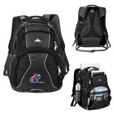 High Sierra Swerve Black Compu Backpack-Penn Relays