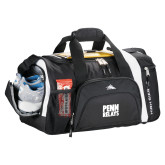 High Sierra Black 22 Inch Garrett Sport Duffel-Penn Relays Stacked