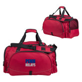 Challenger Team Cardinal Sport Bag-Penn Relays Stacked
