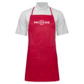 Full Length Red Apron-Phi Sig Wordmark