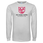 White Long Sleeve T Shirt-Foundation Mark