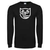 Black Long Sleeve T Shirt-Owl Icon