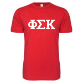 Next Level SoftStyle Red T Shirt-Greek Letters