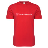 Next Level SoftStyle Red T Shirt-Phi Sigma Kappa
