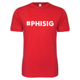 Next Level SoftStyle Red T Shirt-PHISIG