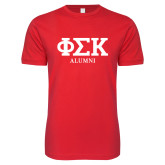 Next Level SoftStyle Red T Shirt-Alumni