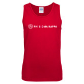 Red Tank Top-Phi Sigma Kappa