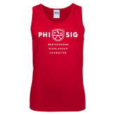 Red Tank Top-Phi Sig Stacked