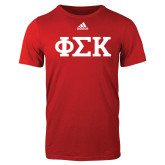 Adidas Red Logo T Shirt-Greek Letters