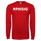 Red Long Sleeve T Shirt-PHISIG