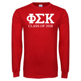 Red Long Sleeve T Shirt-Class of Design