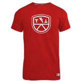 Russell Red Essential T Shirt-Primary Mark
