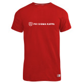 Russell Red Essential T Shirt-Phi Sigma Kappa