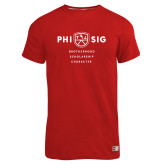 Russell Red Essential T Shirt-Phi Sig Stacked
