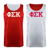Red/White Reversible Tank-Greek Letters