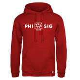 Russell DriPower Red Fleece Hoodie-Phi Sig Wordmark