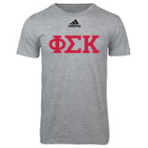 Adidas Sport Grey Logo T Shirt-Greek Letters