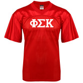 Replica Red Adult Football Jersey-Greek Letters