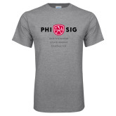 Grey T Shirt-Phi Sig Stacked