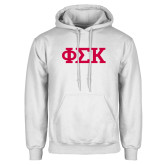 White Fleece Hoodie-Greek Letters