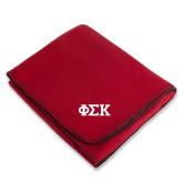Red Arctic Fleece Blanket-Greek Letters