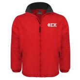 Red Survivor Jacket-Greek Letters