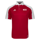 Adidas Modern Red Varsity Polo-Greek Letters