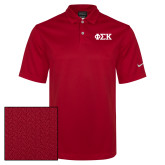 Nike Sphere Dry Red Diamond Polo-Greek Letters