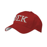Red Mesh w/White Sandwich Structured Hat-Greek Letters