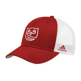 Adidas Red Structured Adjustable Hat-Owl Icon