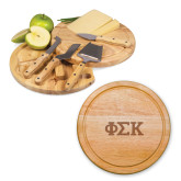 10.2 Inch Circo Cheese Board Set-Greek Letters  Engraved