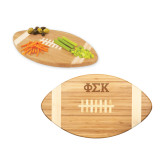 Touchdown Football Cutting Board-Greek Letters  Engraved