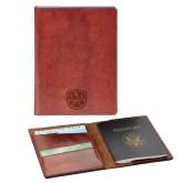 Fabrizio Brown RFID Passport Holder-Primary Mark  Engraved