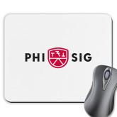 Full Color Mousepad-Phi Sig Wordmark