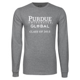 Grey Long Sleeve T Shirt-Class of…Personalized Year, Personalized year