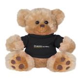 Plush Big Paw 8 1/2 inch Brown Bear w/Black Shirt-Primary Mark Flat