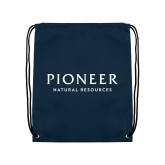 Navy Drawstring Backpack-Pioneer Natural Resources