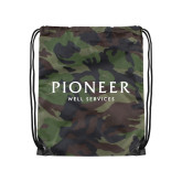 Camo Drawstring Backpack-Pioneer Well Services