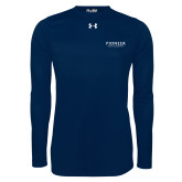 Under Armour Navy Long Sleeve Tech Tee-Pioneer Water Management