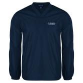 V Neck Navy Raglan Windshirt-Pioneer Natural Resources