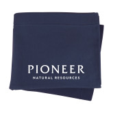 Navy Sweatshirt Blanket-Pioneer Natural Resources