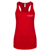Next Level Ladies Red Ideal Racerback Tank-Pioneer Natural Resources