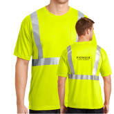 Safety Yellow ANSI 107 Class 2 Safety T Shirt w/Pocket-Pioneer Natural Resources