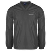 V Neck Charcoal Raglan Windshirt-Pioneer Natural Resources