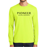 Safety Green Long Sleeve T Shirt-Pioneer Natural Resources