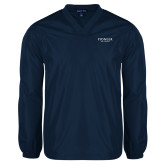 V Neck Navy Raglan Windshirt-Pioneer Well Services