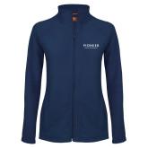 Ladies Fleece Full Zip Navy Jacket-Pioneer Water Management