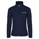 Columbia Ladies Full Zip Navy Fleece Jacket-Pioneer Well Services