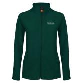 Ladies Fleece Full Zip Dark Green Jacket-Pioneer Natural Resources